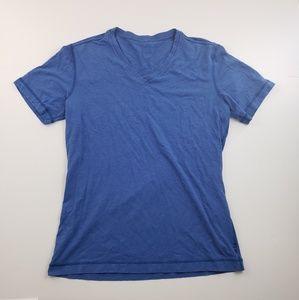 Lululemon Blue V neck Basic T shirt Size Medium